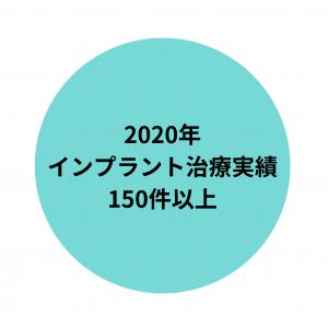 2020年インプラント治療実績150件以上